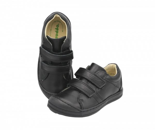 Froddo Luka Boys Black Leather School Shoes