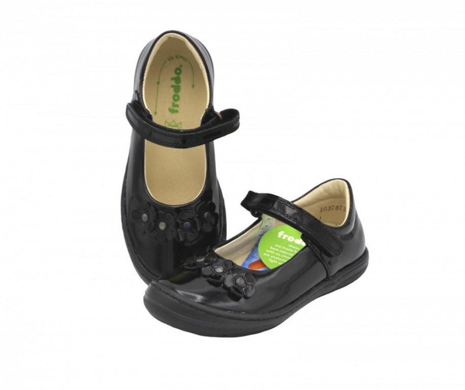 Froddo Mia F Black Patent School Shoes