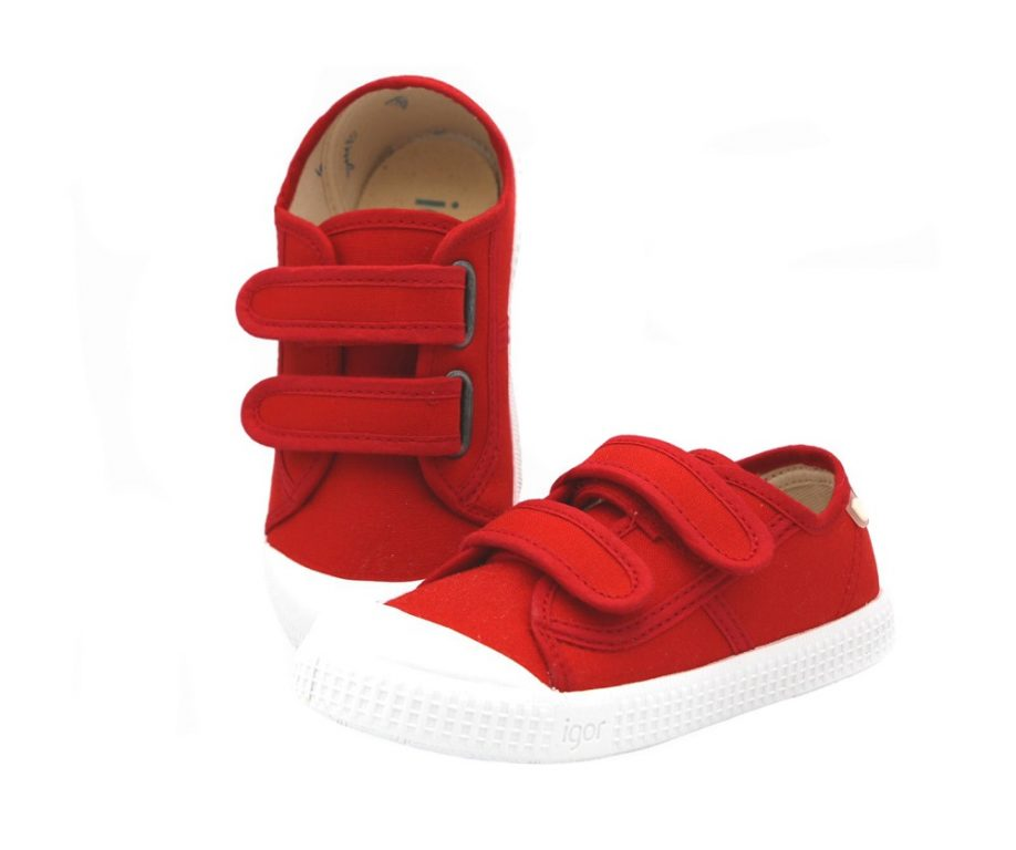 Igor Berri Red Canvas Shoes