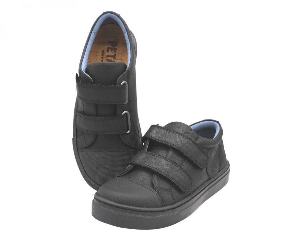Petasil Vose Eco Friendly Black School Shoes