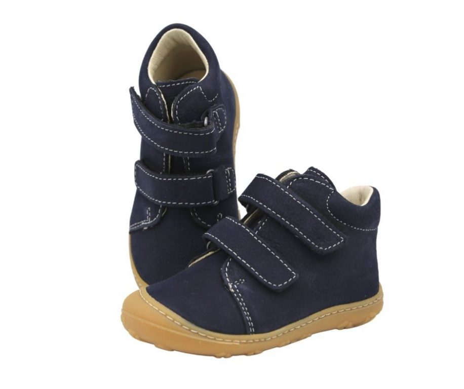 Ricosta Chrisy Navy Leather First Walker Boots