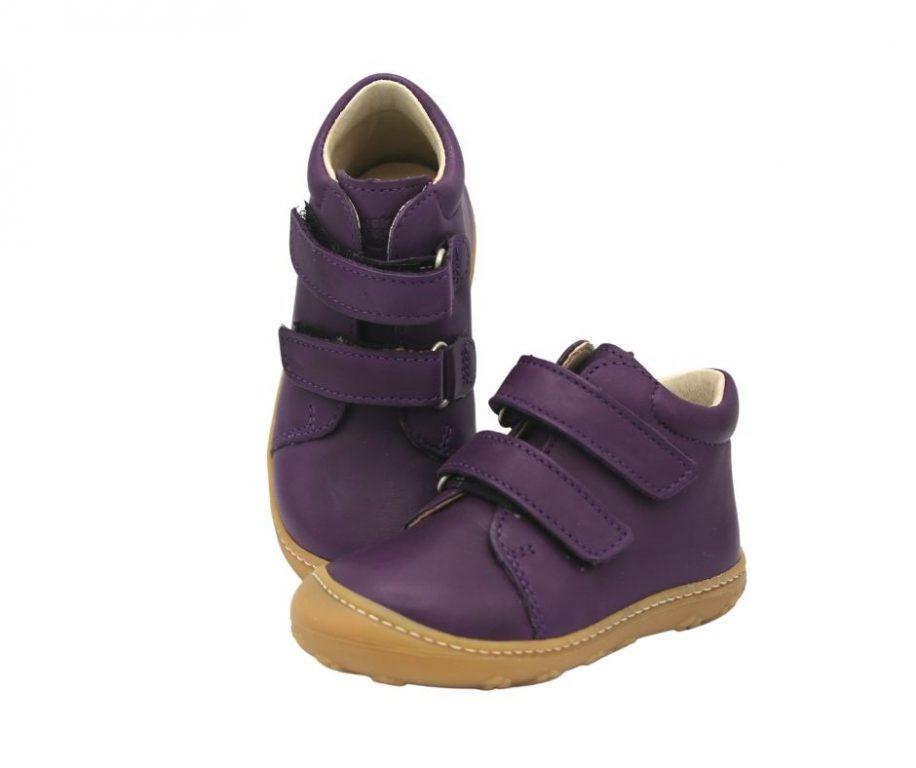 Ricosta Chrisy Purple leather girls first walker boots