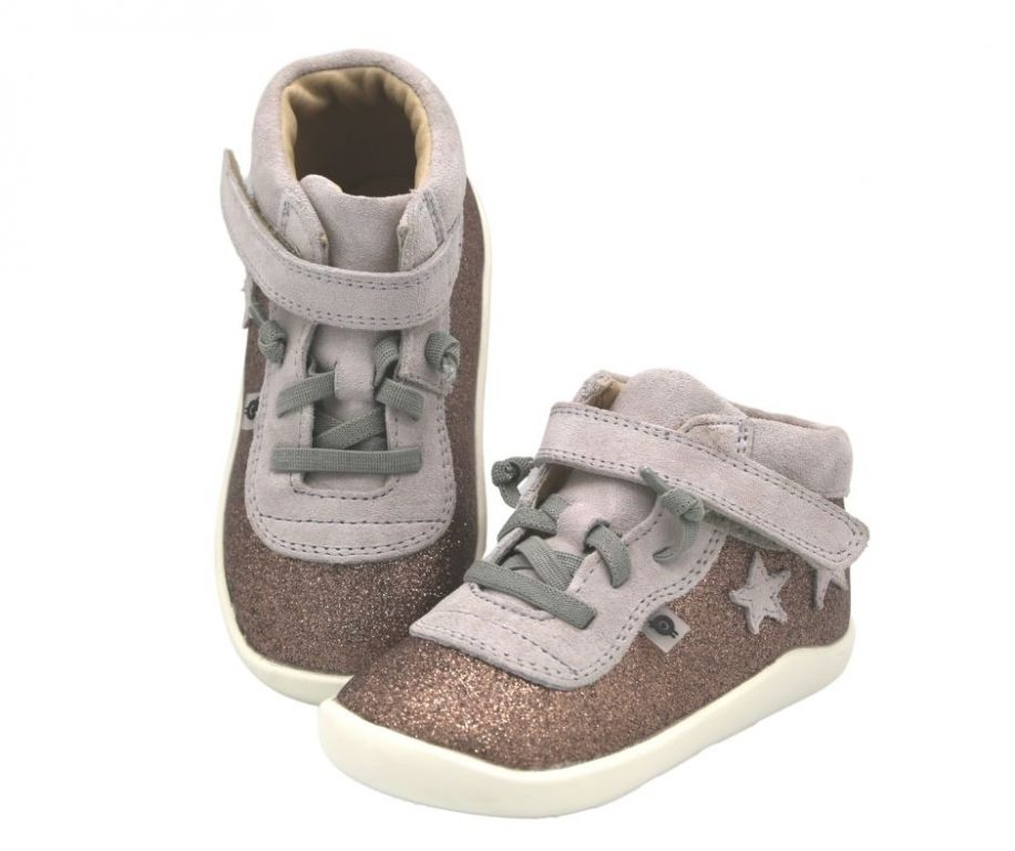 Oldsoles Star Avenue Leather Girl's Hi-Top Trainers