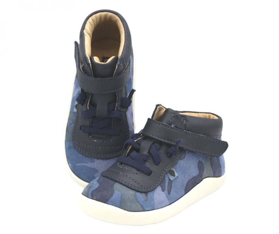 Oldsoles Cause Way Leather Boy's Hi-Top Trainers